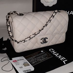 5edf943464cf CHANEL Bags - CHANEL LIGHT BEIGE CAVIAR MINI CLASSIC FLAP BAG